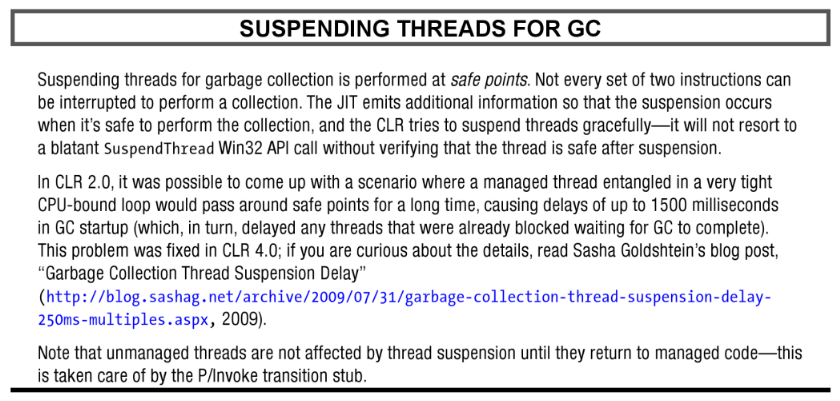 Suspending Threads for GC